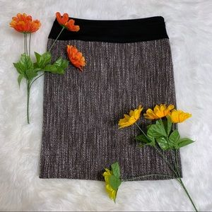 The Limited Textured Grey & White Skirt